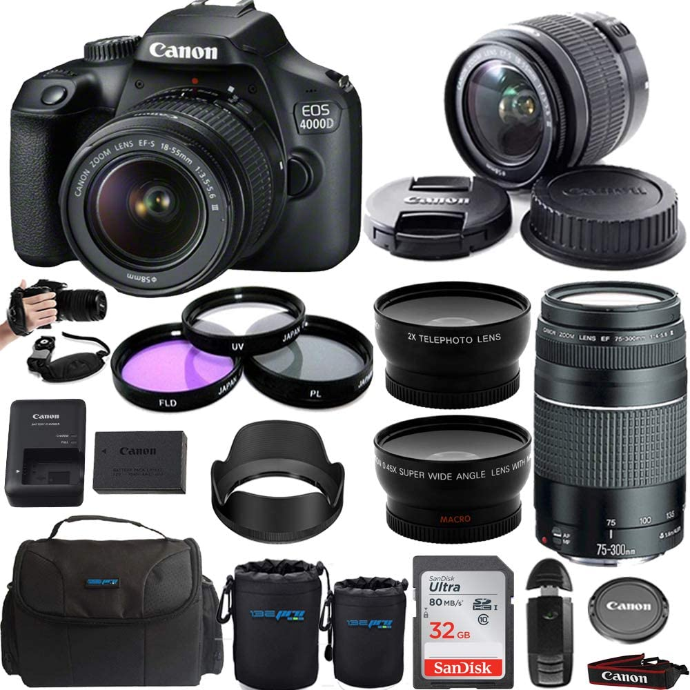 Canon EOS 4000D Digital Camera with EF-S 18-55mm f/3.5-5.6 III L
