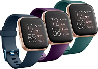 Compatible with Fitbit Versa/Versa 2/Versa Lite/Special Edition Bands Sport Strap Material Breathable Strap Bands for Fitb...