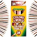 Crayola Colored Pencils 24 Count, Colors of The World, Skin Tone Colored Pencils, 24, Multi from Crayola