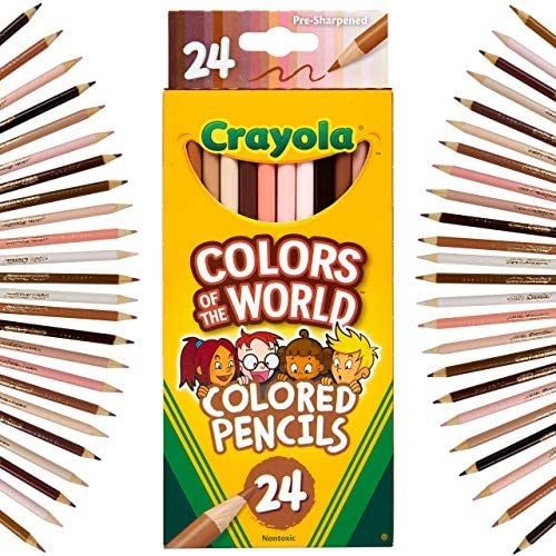 Crayola Colored Pencils 24 Count Colors of The World Skin Tone Colored Pencils 24 Multi product image