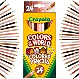 Crayola Colored Pencils 24 Count, Colors of The World, Skin Tone Colored Pencils, 24, Multi
