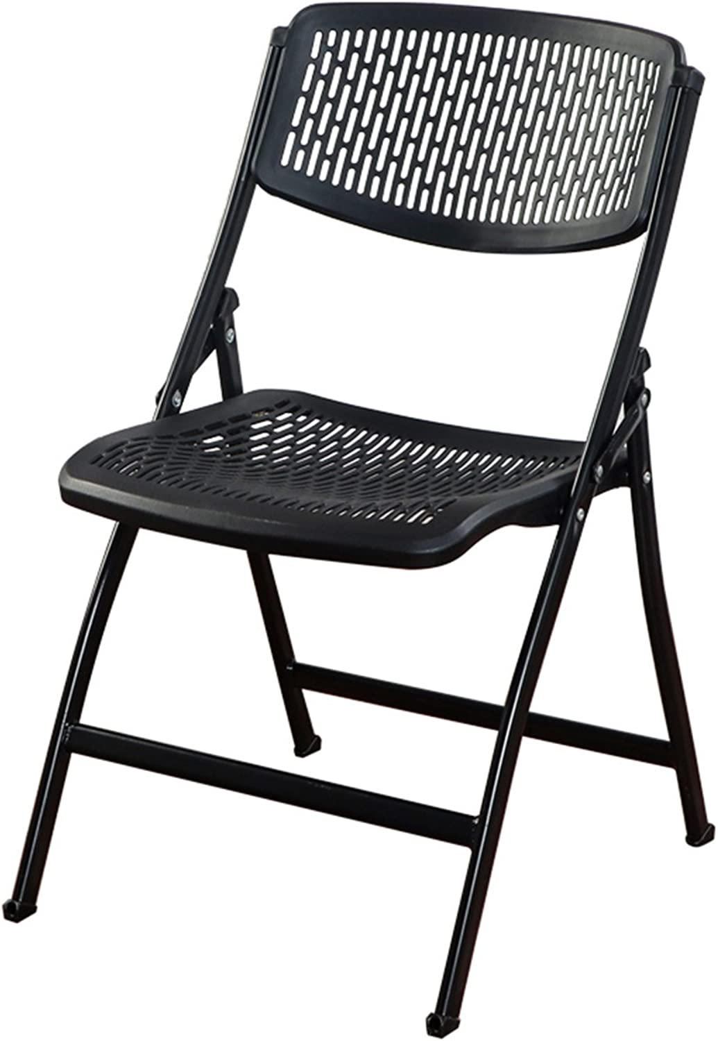 MAZHONG Barstools Folding Chair Back Breathable Hollow Chairs Business Conference Chairs Family Adult Stool Activities Office Chairs (color   A)