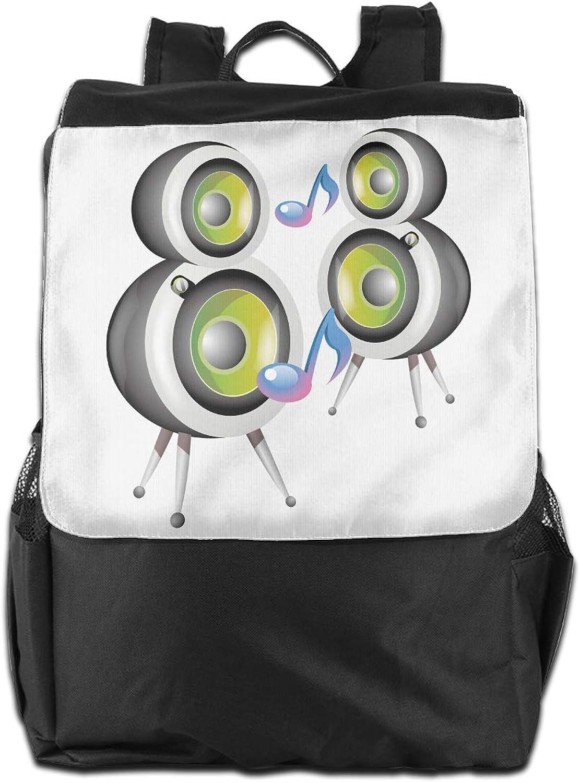 c063a4333d9f Speaker Cute Girls Backpack Lightweight Casual Shoulder Bag School ...