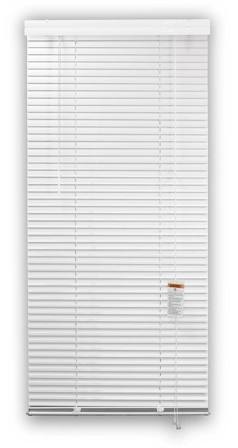 DEZ FURNISHINGS 28151 1-Inch Aluminum Blind, 34-Inch W X 60-Inch L, White