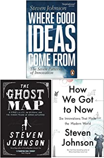 Steven Johnson Collection 3 Books Set (Where Good Ideas Come From, The Ghost Map, How We Got to Now)