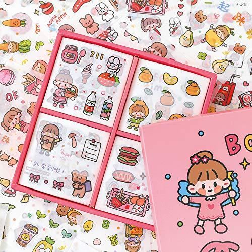 DSSJ 100 Bonitas Cuentas de Mano y Papel Gourmet Hand Account Girl Ins Material de la Caja del teléfono Decorativo pequeño Conjunto de Pegatinas Estampadas