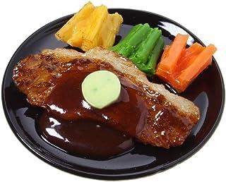 食品サンプル屋さんのマグネット(サーロインステーキ)【食品サンプル ミニチュア 雑貨 食べ物 ビーフ 外国 土産 リアル】