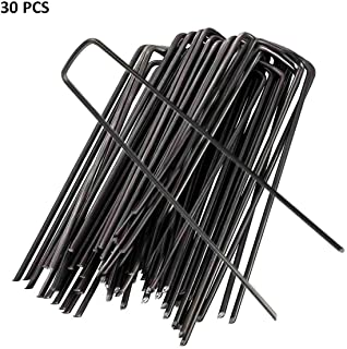 Garden Staples U Shaped Steel Pins Ground Stakes Pegs Spikes for Lawn Sod Weed Landscape Grass Fabric Netting, More Applications