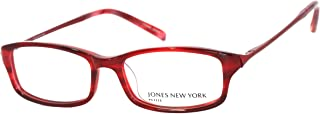 Jones New York Unisex Rectangle Red Plastic Eyewear J213 Red