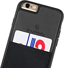 Sinjimoru iPhone 6s case with Card Holder, Slim Card Wallet case. Sinji Pouch Case for iPhone 6, Black