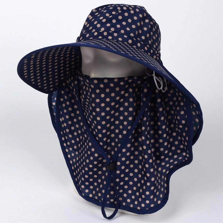 Beach Hat Women's Hats Summer Outdoor AntiUltrapurple Bike Cap Visor Cover Face Neck Guard Cap bluee B Summer Sun Hat