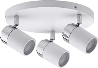 Paulmann 66712 Spotlight Zyli IP44 Rondell max 3x10 W GU10 biały/chrom 230 V metal 667.12 lampa sufitowa LED lampa sufitow...