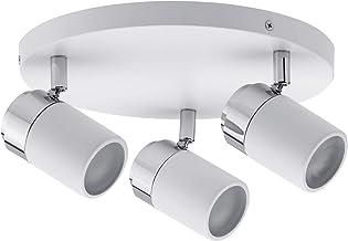 Paulmann 66712 Spot Zyli IP44 Rondell max. 3x10W GU10 wit/chroom 230V metaal 66712 plafondlamp lamp LED plafondlamp plafon...