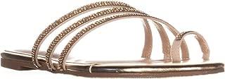 TS35 Jaynne Toe Ring Slide Sandals, Gold Metallic