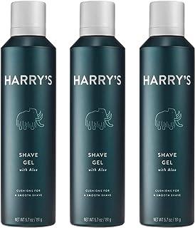 Harry's Shave Gel - Shaving Gel with an Aloe Enriched Formula - 3 pack (6.7oz)