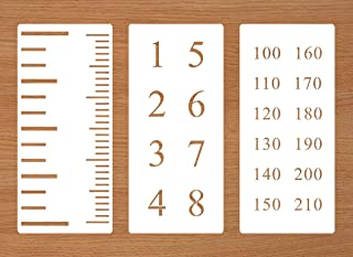 8 Feet or 210mm Scale Stencils for Growth Chart Rulers, Home Decor | Repeatable Painting on Wood, Wall ,Paper