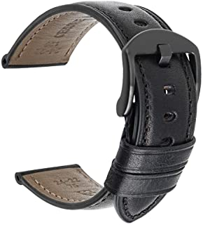 بند ساعت مچی چرم گوساله اصلی / زنانه ساعت مچی باند لوازم جانبی دستبند استیل ضد زنگ 20 میلی متر 22 میلی متر 24 میلی متر دستبند 4 رنگ باند ساعت