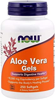 Now Foods Aloe Vera Gels, 10000 mg 250 Softgels