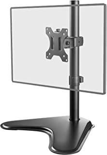 WALI Free Standing Single LCD Monitor Fully Adjustable Desk Mount Fits 1 Screen up to 32 inch, 17.6 lbs. Weight Capacity (MF001), Black