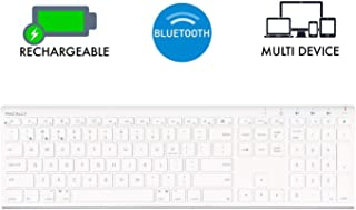 Macally Wireless Bluetooth Keyboard with Numeric Keypad for Laptops, Computers (Apple: Mac, iMac, MacBook Pro/Air, iOS, iPhone, iPad | Windows: PC and Android), Smartphones, Tablets (ACEBTKEY)