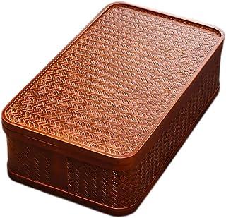 RKRCXH Boîte de Rangement en rotin Ensemble de thé Fait à la Main en Bambou Portable Panier de Grande capacité Artisanat T...