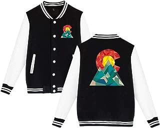 Colorado Geo Men's Lady's Varsity Baseball Jacket Button Down Lightweight Sweater Sweatshirt XXS-4XL