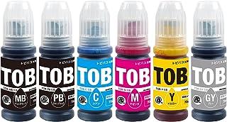 Morishop インクボトル TOB (MB(顔料)/PB/C/M/Y/GY)【6色セット】エプソン用 残量表示対応 対応機種: EW-M873T EW-M973A3T トビバコ TOB-MB TOB-PB TOB-C TOB-M TOB-Y...