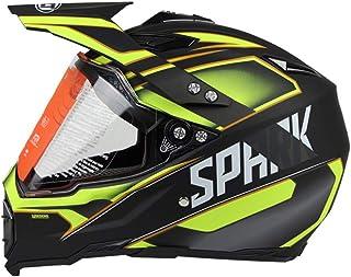 Woljay Cross Offroad Helm Motocross-Helm Fahrrad Für ATV MX Motocross Helm mit Sonnenblende Klar Gelb Trupp M