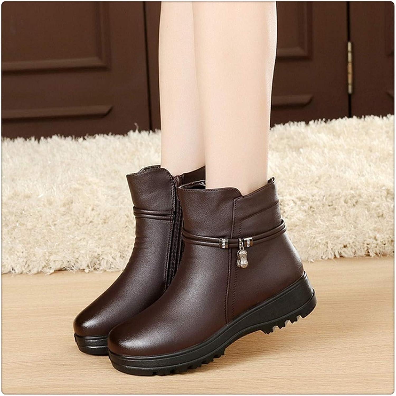 HANGGE& Cute Cat Warm Boots Women Family Christmas Cotton Winter shoes Women Boot