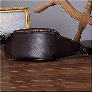 Lightweight Trend Waist Pack, Men's Sports Leisure Multifunction Shoulder Bag Waist Bag Durable Leather (Size:26 * 9 * 16cm) (Color : Brown)