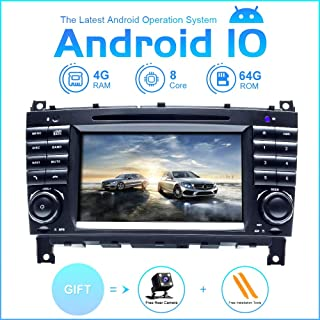 Android Car Radio Stereo,TOOPAI for Mercedes Benz W209 W203 Sprinter Viano Vito VW Crafter Android 10 Octa Core 4G RAM 64G ROM 7 Inch Capacitive Multi-Touch Screen Double Din in Dash Auto Stereo GPS