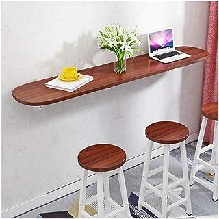 YDDZ Plateau de Table Épaissi de 25 Mm Table Murale Table de Bar Design Pliable Table Murale Le Bureau à Cadre en Acier en...