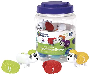 Learning Resources Snap-n-Learn Counting Sheep, Fine Motor, Counting & Sorting Toy, Ages 18 mos+