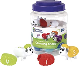 Learning Resources LER6712 Snap n Learn Counting Sheep Set (10 Piece)