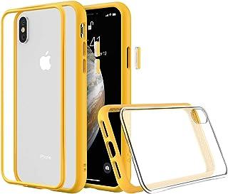 RhinoShield(ライノシールド) iPhone XS用 モジュラーケース カスタマイズ可 衝撃吸収 高耐久 ワイヤレス充電&カメラレンズ対応 - イエロー耐衝撃バンパー&クリア背面