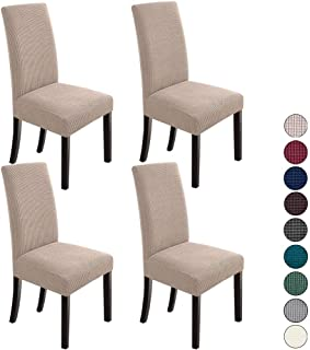 NORTHERN BROTHERS Dining Room Chair Slipcovers Dining Chair Covers Parsons Chair Slipcover Stretch Chair Covers for Dining...