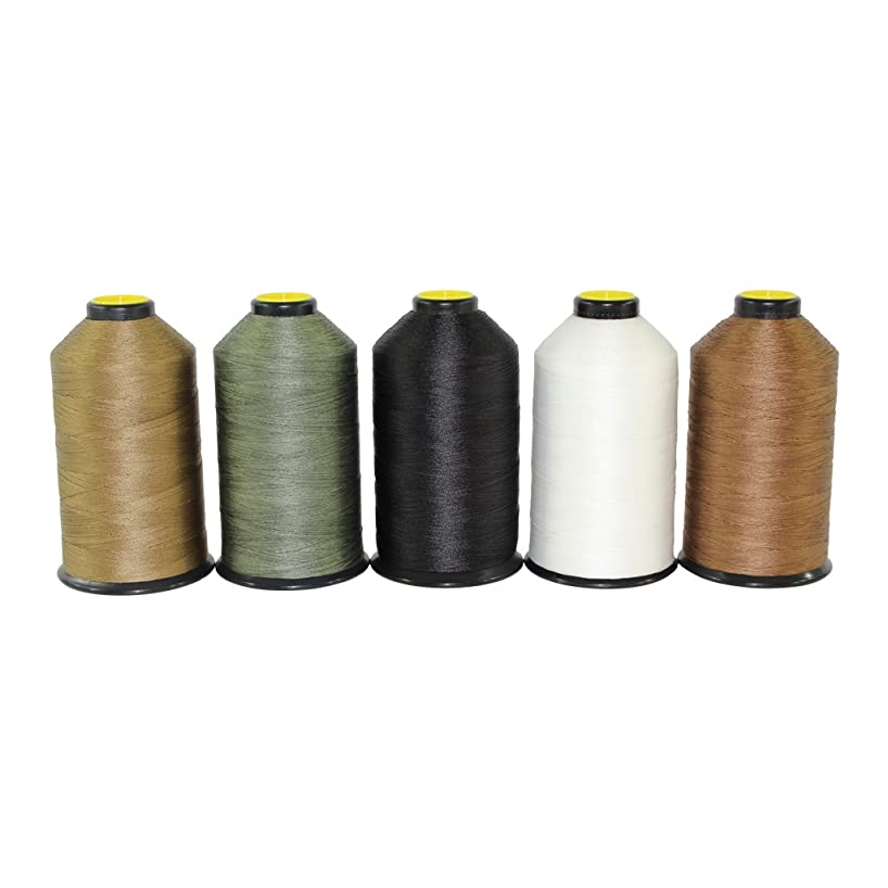 Bonded Nylon Thread #69 - SGT KNOTS - Milspec Thread - Military Grade Nylon Sewing Thread - for Leather Stitching, Canvas Repair, Gear Modification, Upholstery, More (8 oz. Spool - Black)