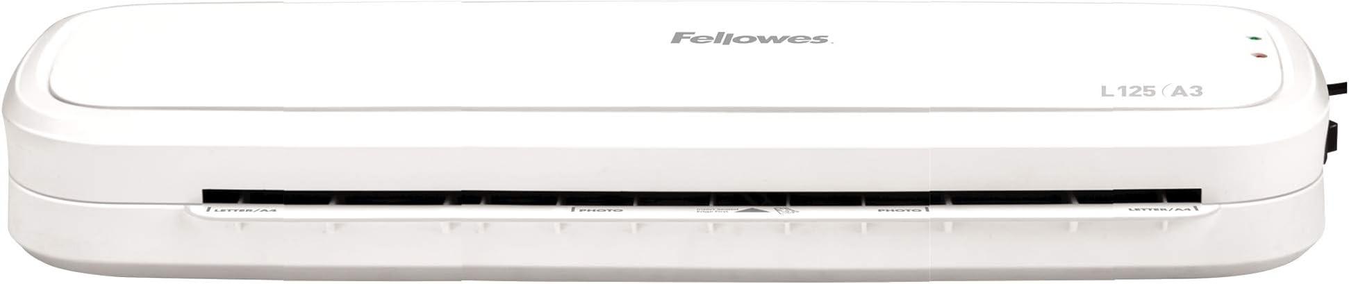 Formato A4 80 Micron Fellowes 5737201 Plastificatrice L125 Formato A4 Confezione da 100 Pezzi 80-125 Micron /& 5306114 Pouches Di Plastificazione