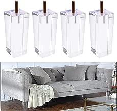 Acrylic Furniture Legs Gourd Shape Sofa Cupboard 4''H Clear Acrylic Lucite Furniture Leg Feet 5/16