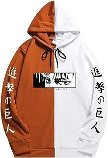 Men Attack on Titan survey corps hoodie Pullover Hoodie Colorblock Sweatshirt with Pocket