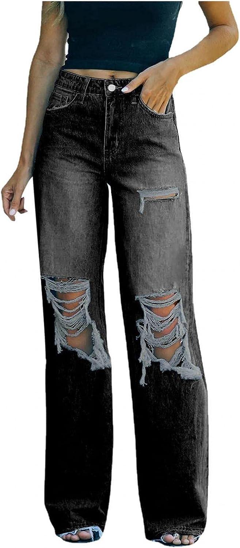 MASZONE Y2K Fashion Jeans, Women High Waist Jeans Vintage Casual Baggy Trousers Denim Pants Butterfly Pants Streetwear