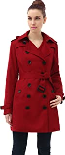 Women's Leah Hooded Mid Length Trench Coat