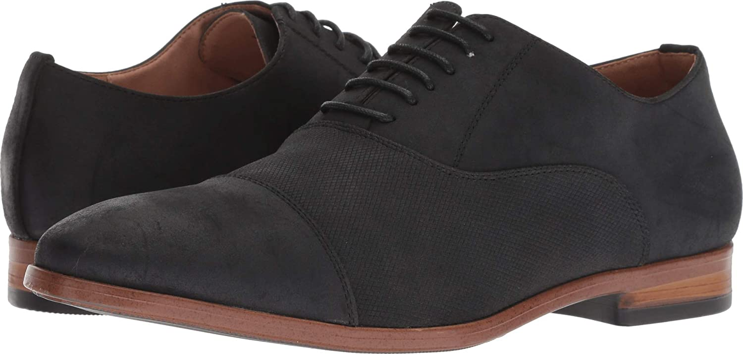Steve Madden M-Great6 Mens Black Suede Casual Dress Lace Up Oxfords shoes