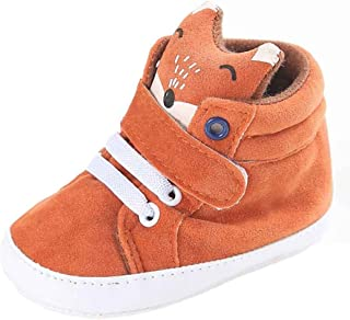 Infant Toddler Baby Girls Boys Cut Fox Hight Warm Shoes Autumn and Winter Anti-Slip Soft Sole Sneaker 0-18 Months