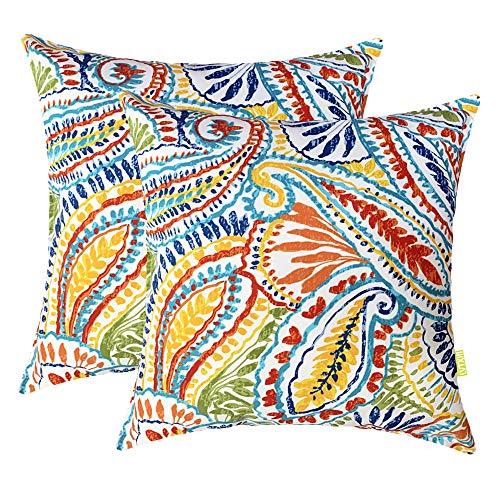 Bridgeso Spring Throw Pillow Cover Square Pillowcase Simple Design Natural Cotton Linen Blend for Bedroom Couch Sofa 45 x 45 cm 18 x 18 2pcs Set 18 x 18 Brown /& White Stripes 45 x 45 cm