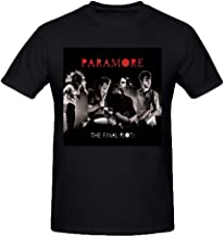 Existlong Paramore The Final Riot T Shirts for Men Crew Neck