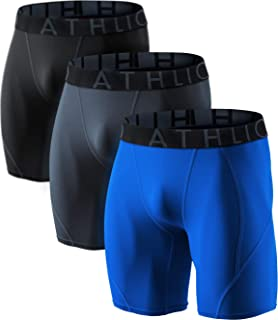 ATHLIO 1 or 3 Pack Men's Athletic Cool Dry Compression Shorts, Sports Performance Active Running Tights