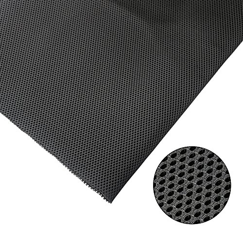 KISSTAKER Speaker Cloth Stereo Grill Fabric Mesh Replacement for Car Audio,Stage Speakers and KTV Boxes Repair Black 57