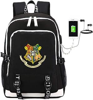 Comtervi Harry Rucksack Hogwarts Rucksack, Daypacks Laptoptasche Schulrucksack, Unisex Junge Camping Outdoor Backpack Mit USB Ladeanschluss