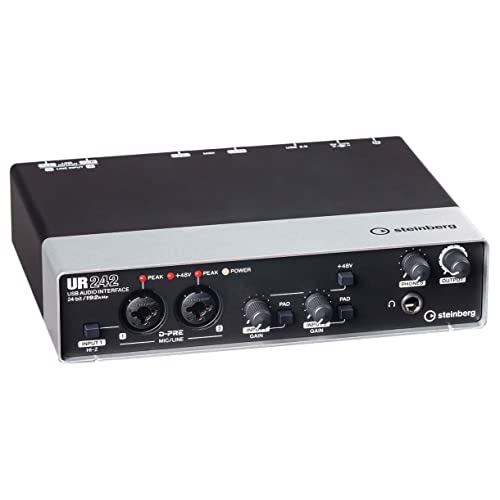 Steinberg UR242 EU USB-Audio-Interface (192 kHz, D-PRE) inkl. MIDI I/O